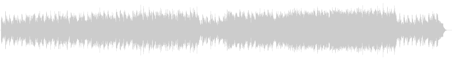 切ないシンセサイザーバラード系サウンドの未再生の波形