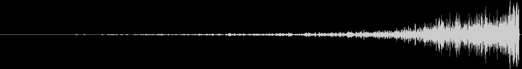 ヒューシュカットリバースアウトの未再生の波形
