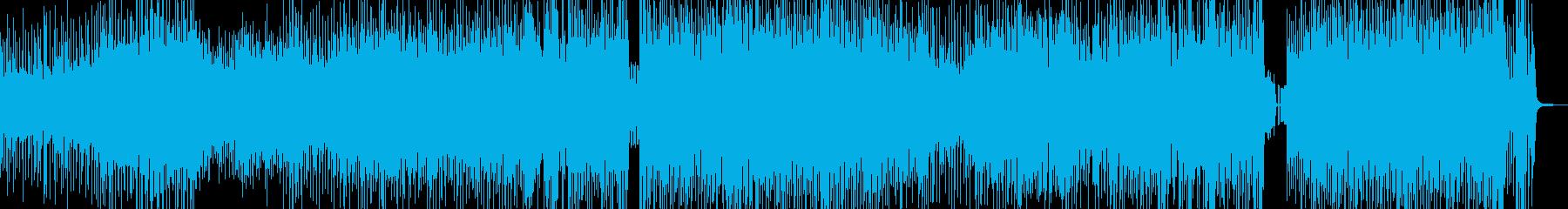 クセになるメロディの三味線テクノ 長尺の再生済みの波形