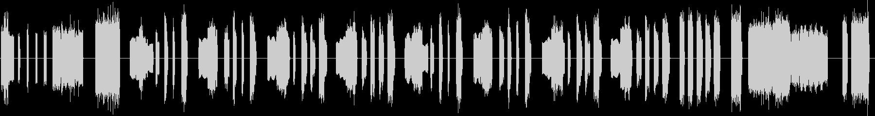 レトロなオルガンのコミカルなジングルの未再生の波形