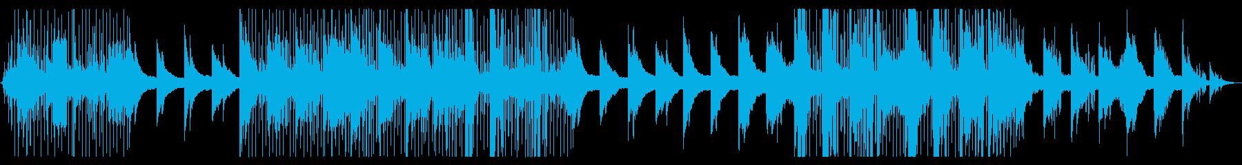 ジャズ寄りのドラムンベースの再生済みの波形
