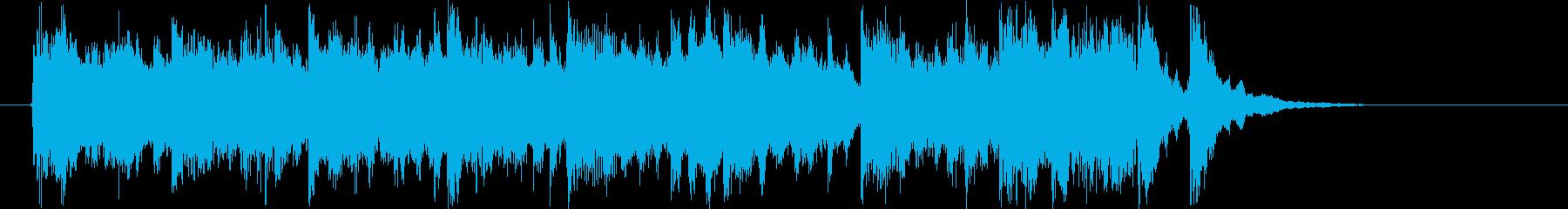 明るいポップなシンセの曲の再生済みの波形