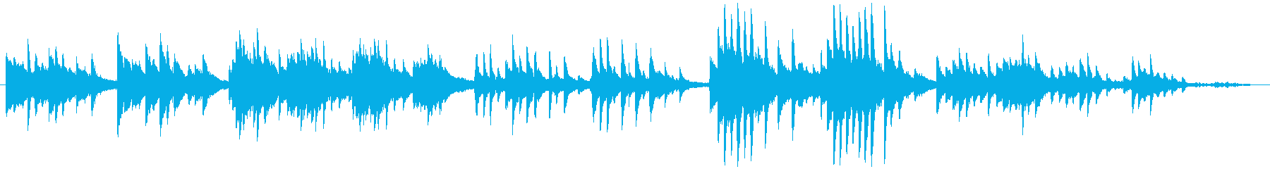 ピアノソロ、静か の再生済みの波形
