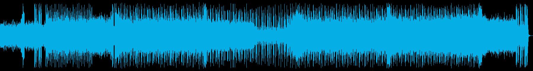 激しく攻撃的なエレクトロの再生済みの波形
