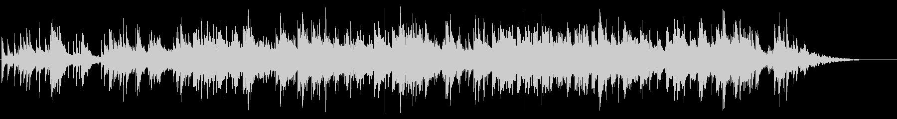 映画のエンドロール風 ゴシック調ピアノの未再生の波形