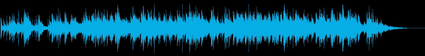 映画のエンドロール風 ゴシック調ピアノの再生済みの波形