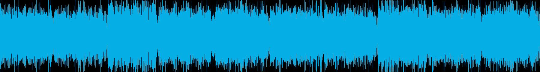 オタクヒロインをイメージ元気弾けるシンセの再生済みの波形