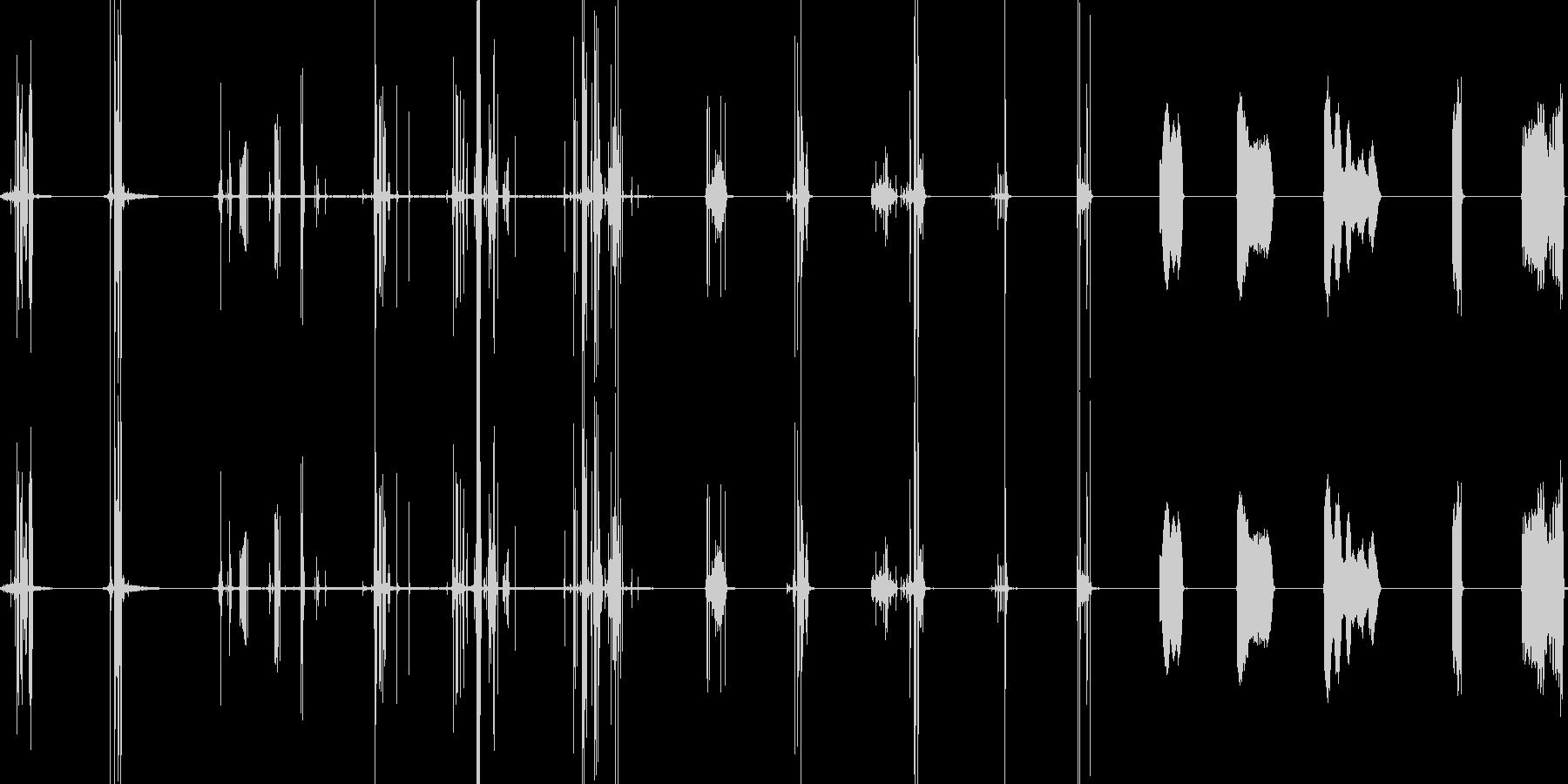 ウッドチェアスクレープキーキーの未再生の波形