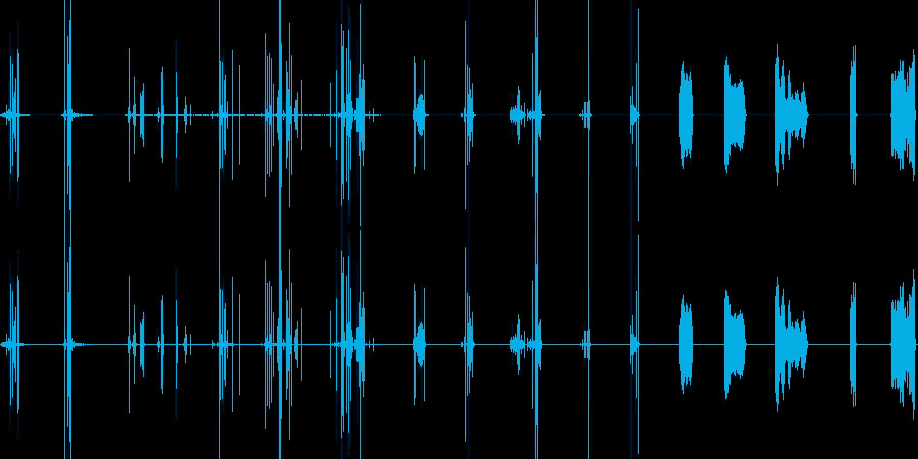 ウッドチェアスクレープキーキーの再生済みの波形