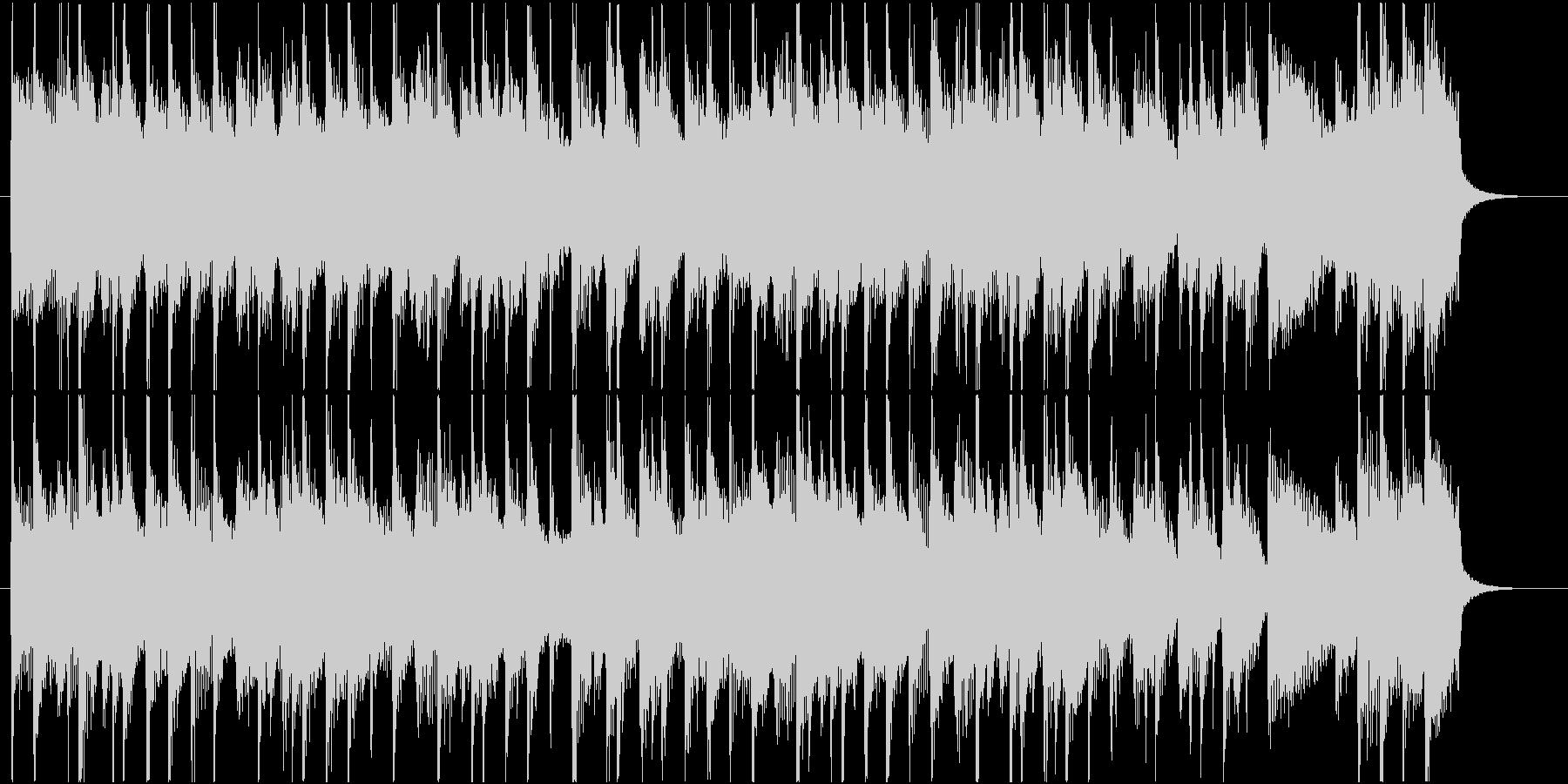 ピアノが爽やかで軽快な短い曲の未再生の波形