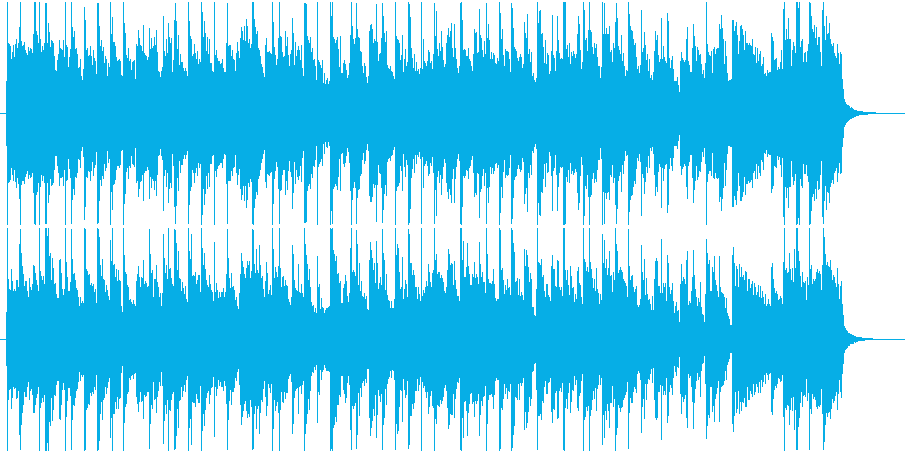 ピアノが爽やかで軽快な短い曲の再生済みの波形