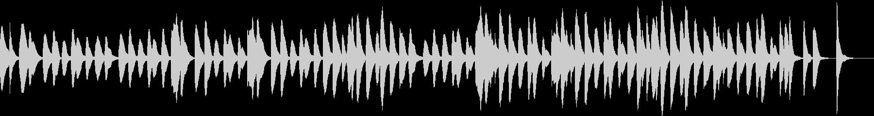 マリンバのコミカルでかわいいジングル1の未再生の波形