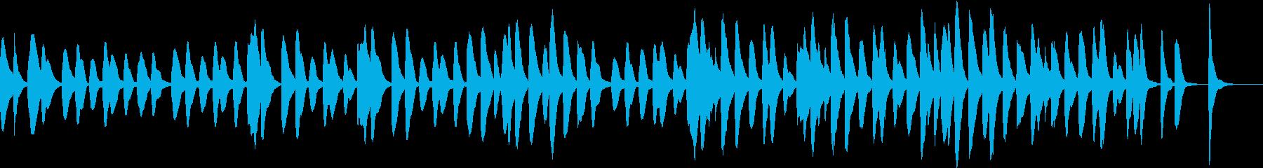 マリンバのコミカルでかわいいジングル1の再生済みの波形
