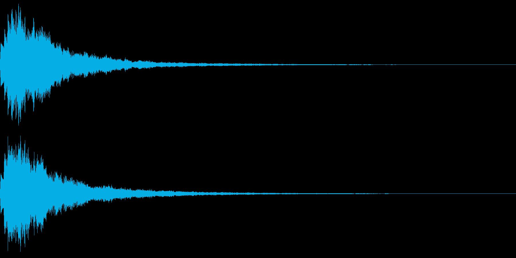 キラン!なアタック音3の再生済みの波形