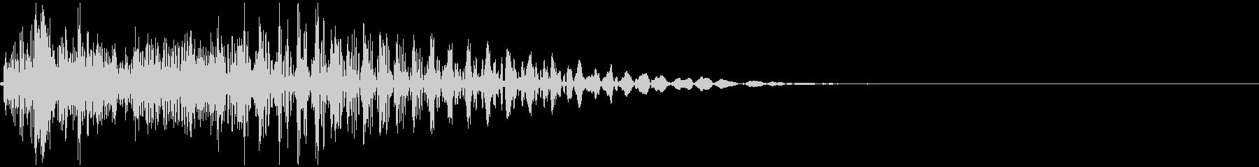 「カン」 麻雀ゲームのシステムボイスにの未再生の波形