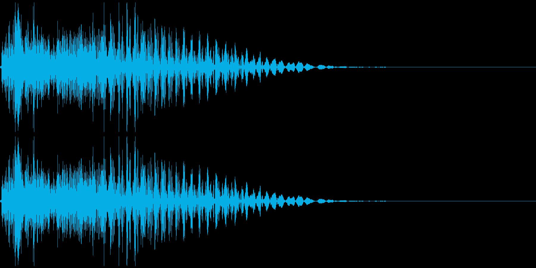 「カン」 麻雀ゲームのシステムボイスにの再生済みの波形