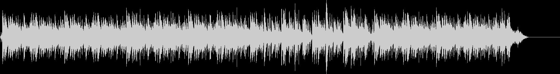 ポップな雰囲気のトロピカルなBGMの未再生の波形
