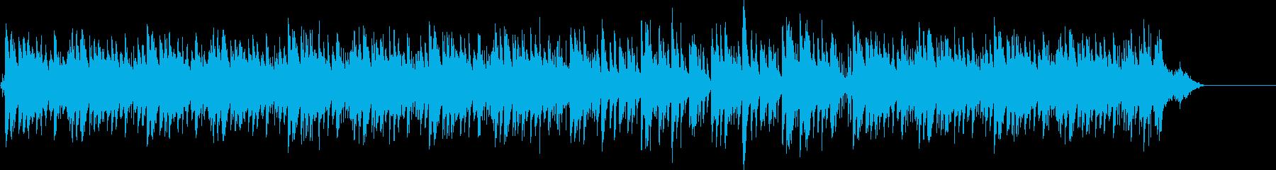 ポップな雰囲気のトロピカルなBGMの再生済みの波形