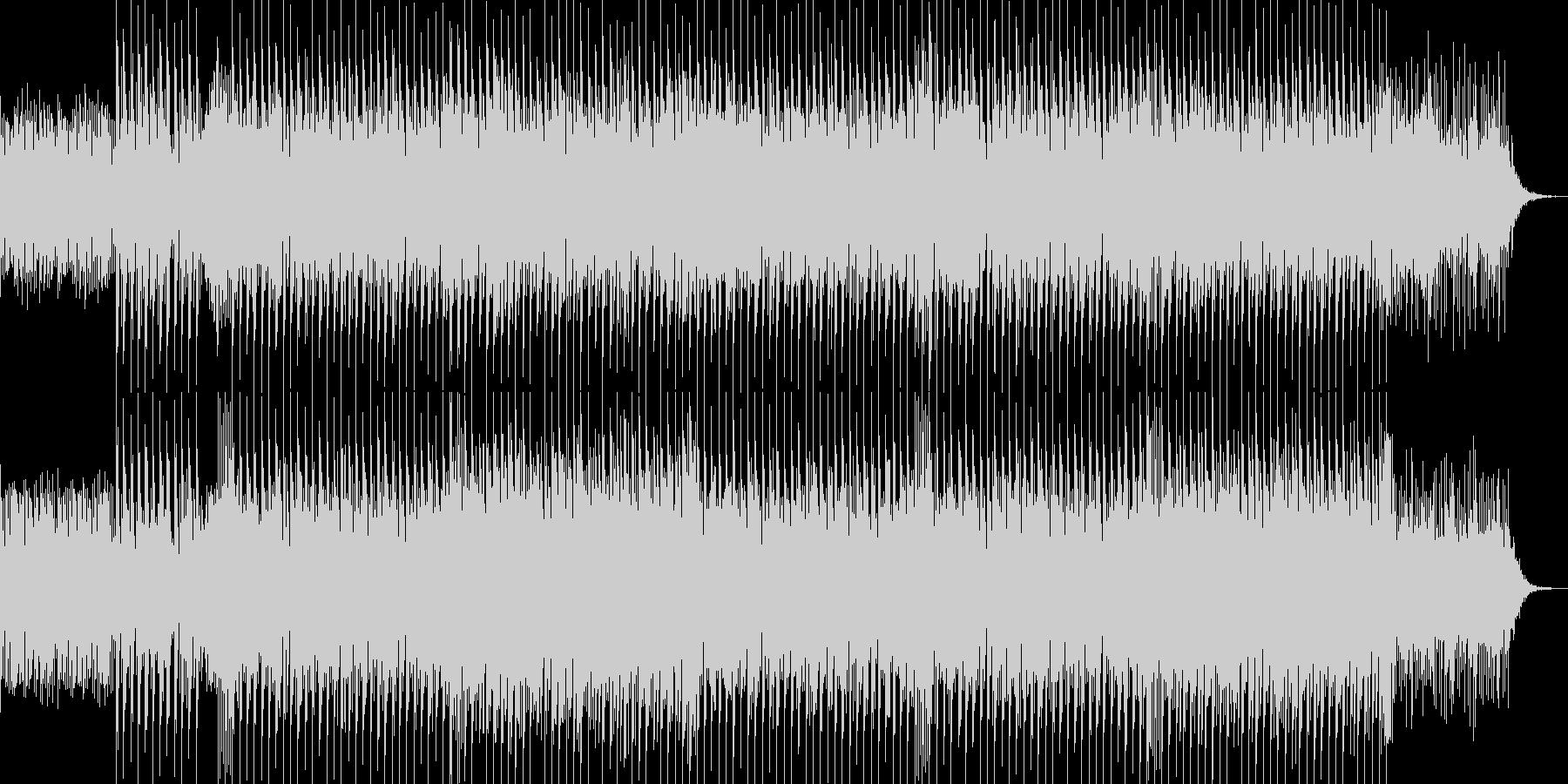 ほのぼのする感じのカッコイイEDMの未再生の波形