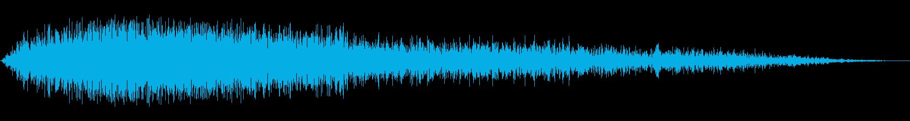 ヒュウーーン!(強く勢いのある風音)の再生済みの波形