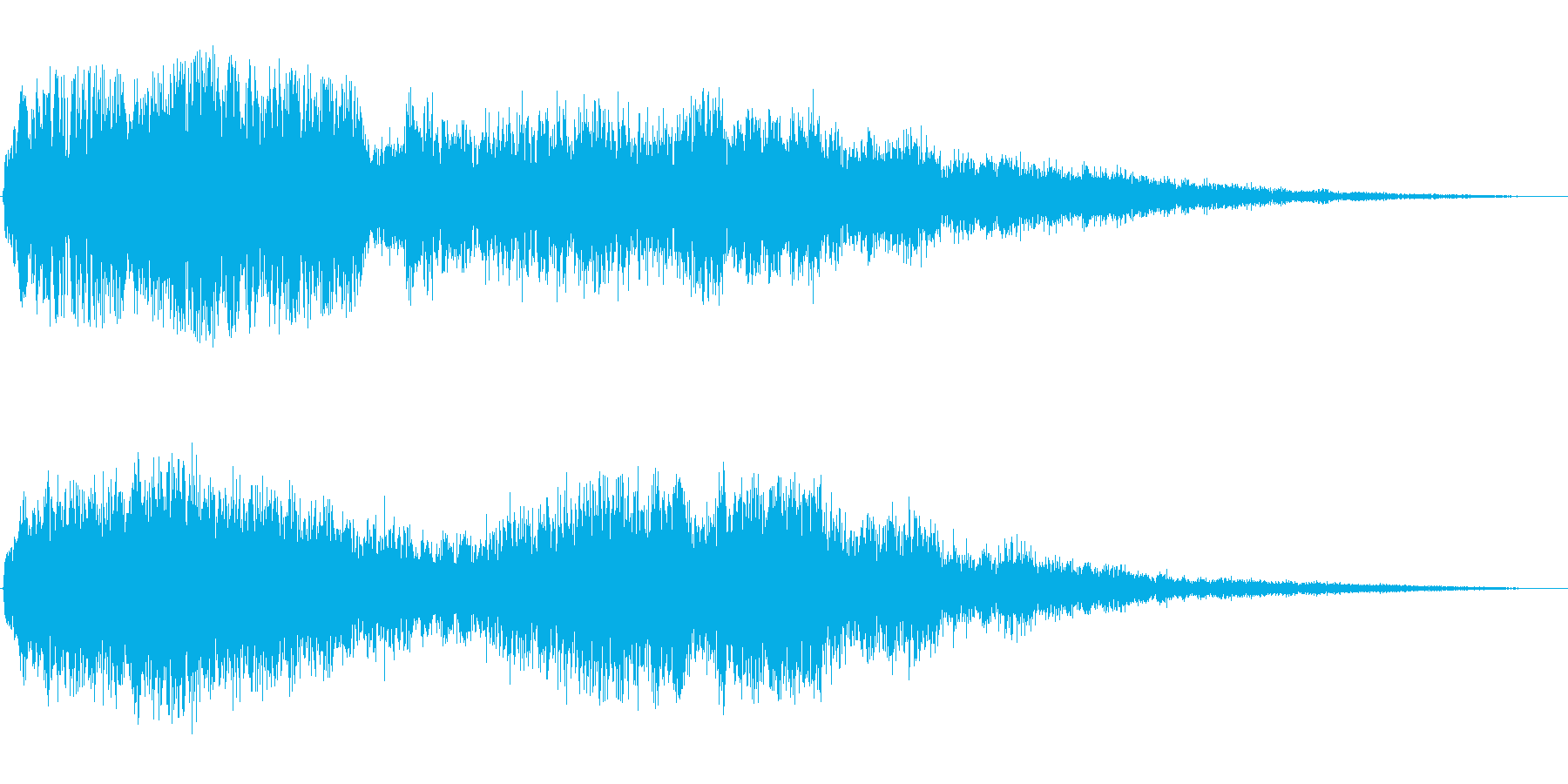 ブォァァン(悪い魔法をかけたような音)の再生済みの波形