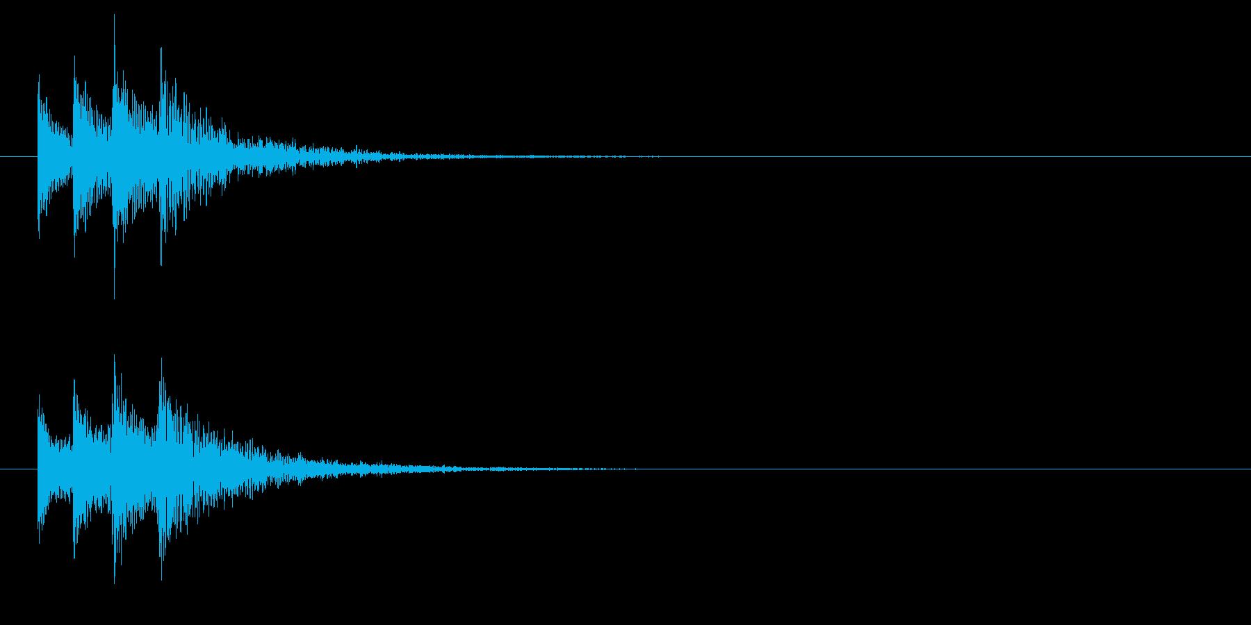 間違った答えの落下ongの再生済みの波形