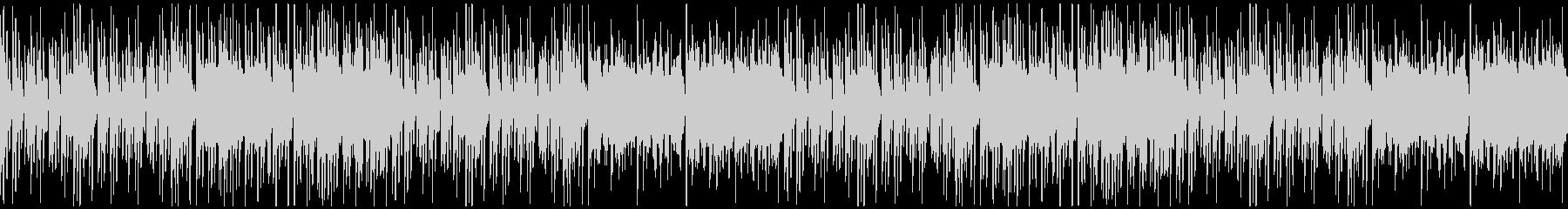 怪しげでいたずらっぽいハロウィン系BGMの未再生の波形