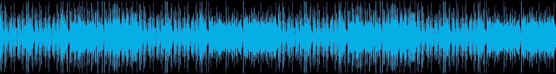 怪しげでいたずらっぽいハロウィン系BGMの再生済みの波形
