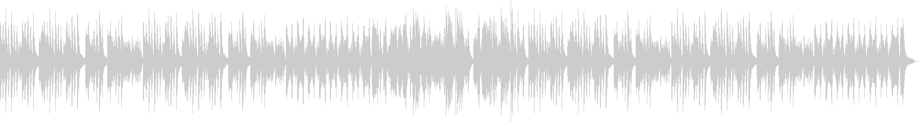 ゆっくりしたピアノ曲の未再生の波形