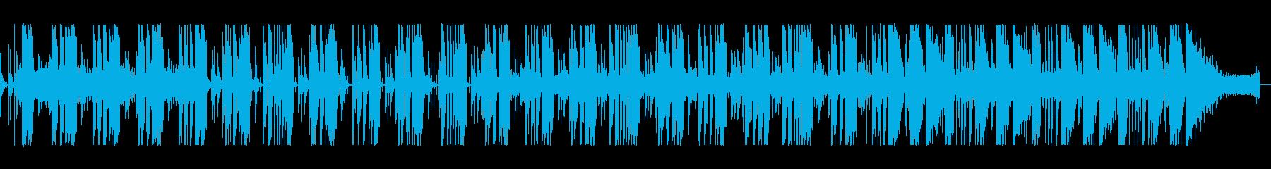 レゲエ調の明るく開放的な楽曲の再生済みの波形