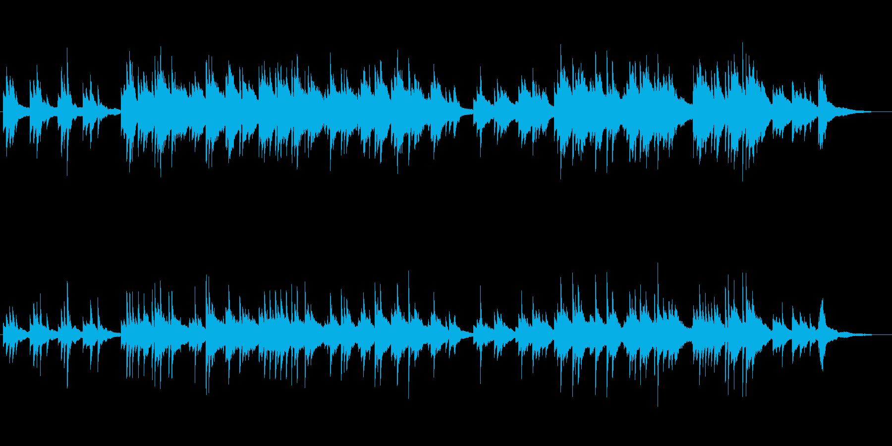 ドラマチックなピアノソロ曲の再生済みの波形