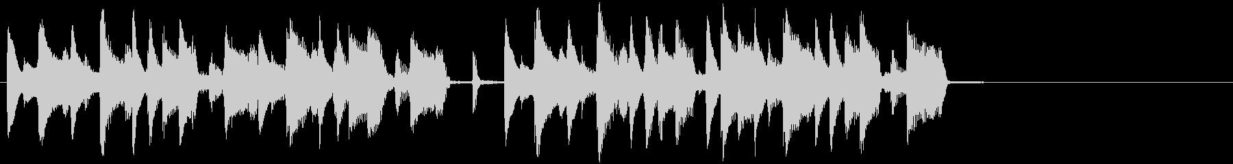 コミカルで素朴な日常 ジングル2の未再生の波形