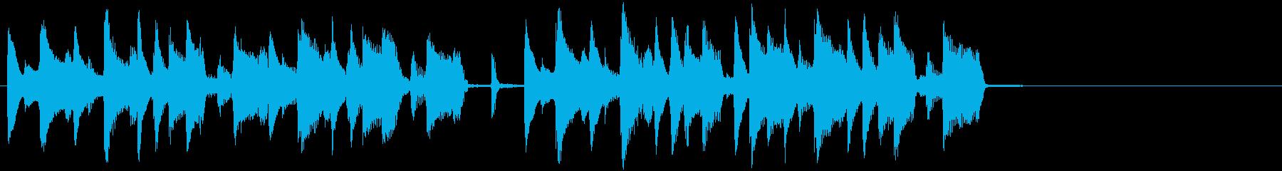 コミカルで素朴な日常 ジングル2の再生済みの波形