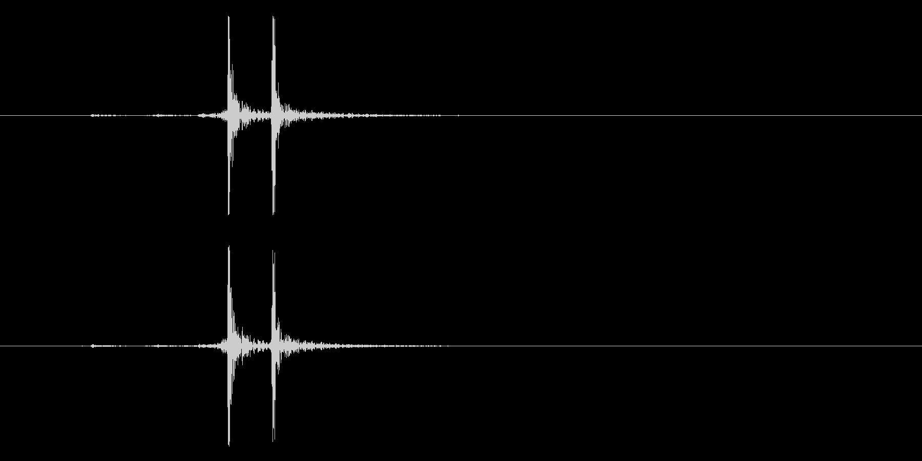 ブリーフケースロックスナップオープンの未再生の波形