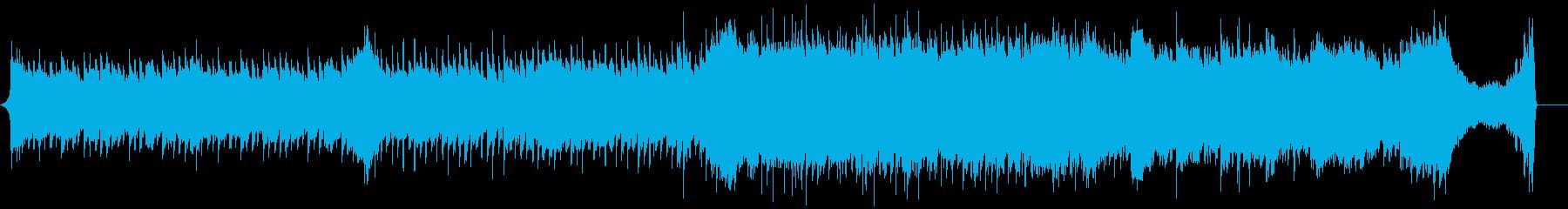 企業向け60秒 ピアノと弦の爽やかな曲の再生済みの波形