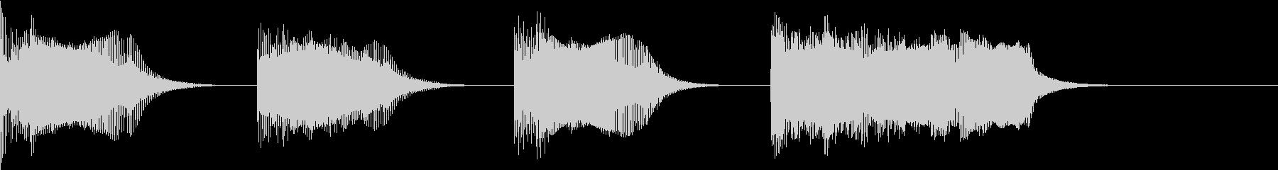 レーススタート合図5 カウントダウン の未再生の波形