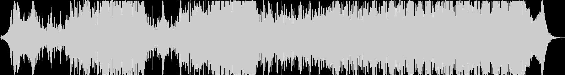 琴と太鼓が印象的な激しいバトル曲の未再生の波形