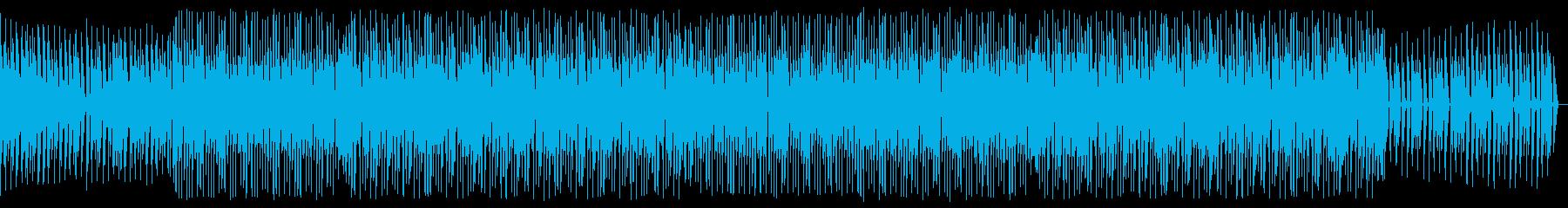 忍び寄るようなテクノの再生済みの波形