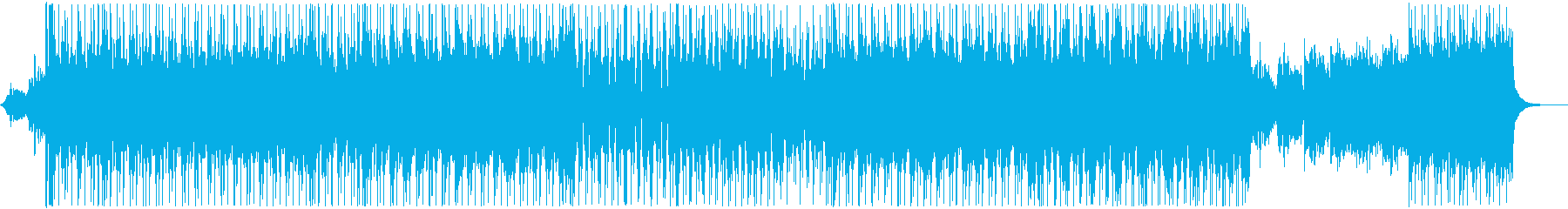 サイバーで重圧感のあるエンドロール用の再生済みの波形