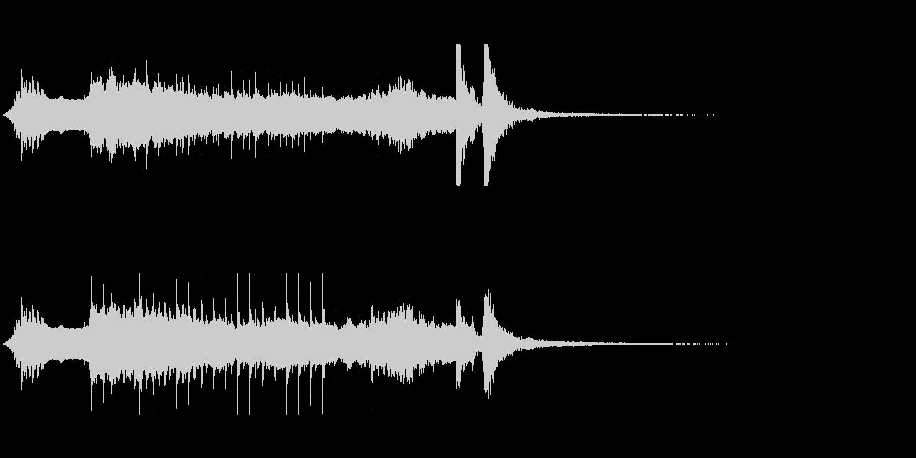 和楽器のサウンドでワンポイントなMEの未再生の波形