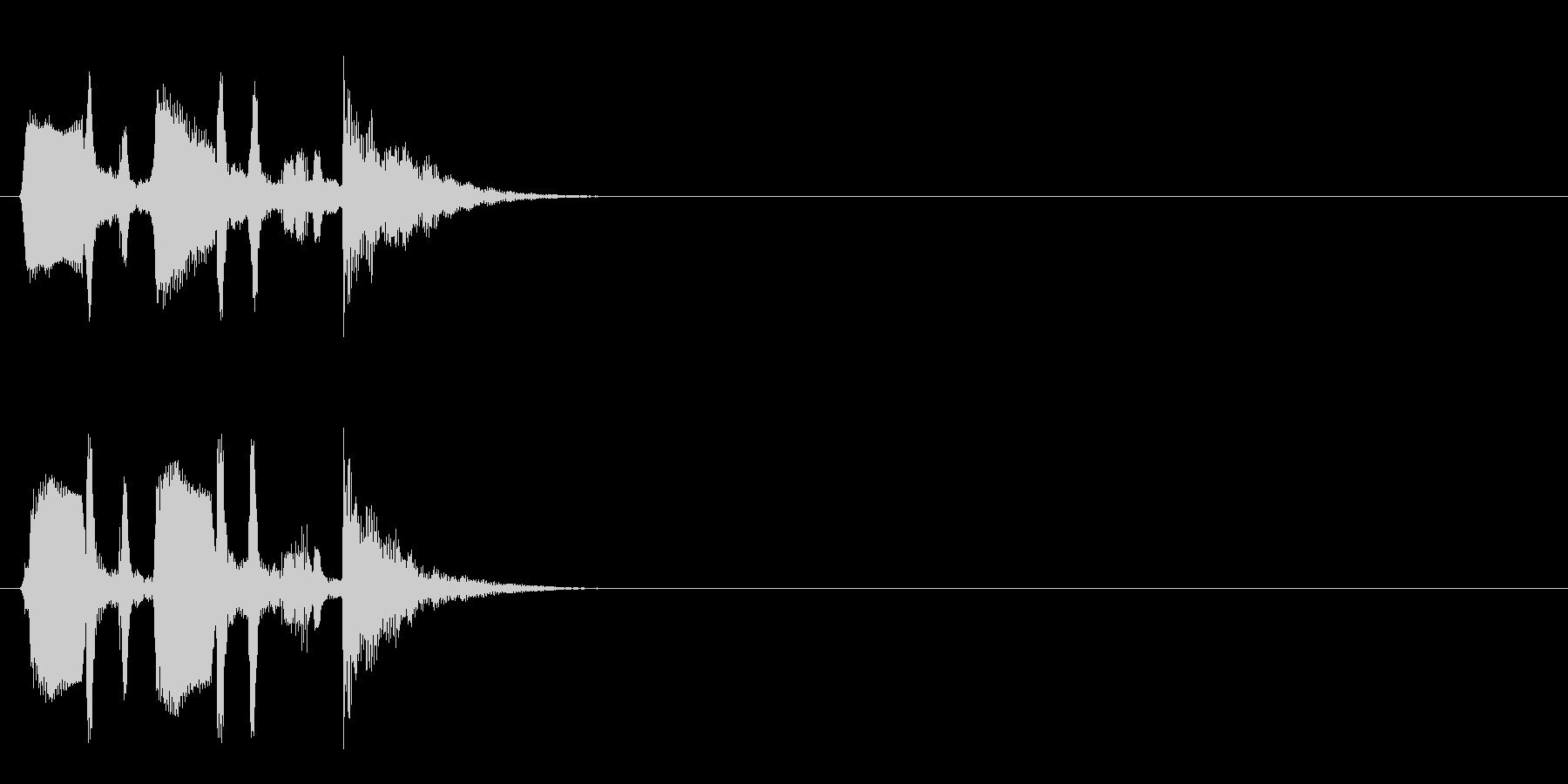 ジングル/アタック(ポップ/和風)の未再生の波形