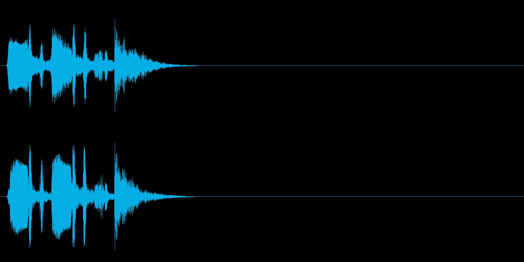 ジングル/アタック(ポップ/和風)の再生済みの波形