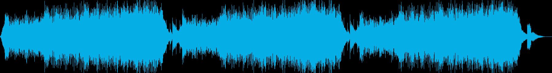 緊張感のあるあやしい曲の再生済みの波形