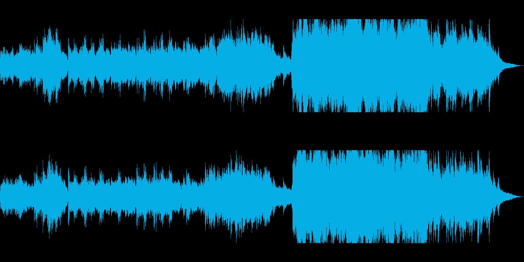 幻想的で美しい癒しのBGMの再生済みの波形