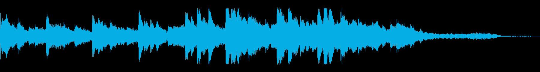 マリンバとピアノ優しいコーポレート30秒の再生済みの波形