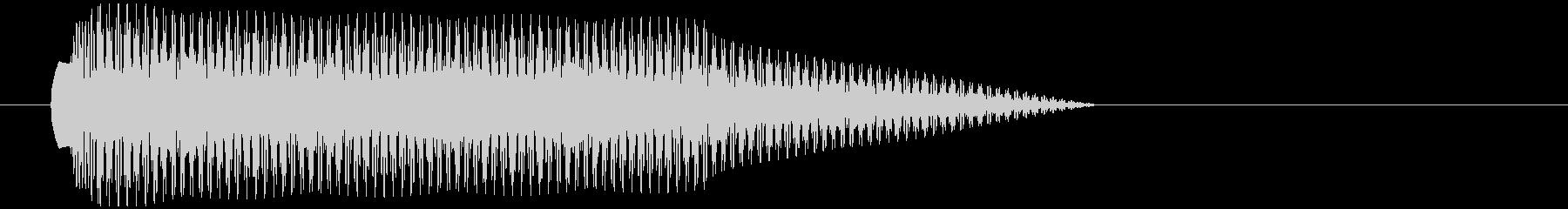 【SE/ボタン】アプリ音 タラーの未再生の波形
