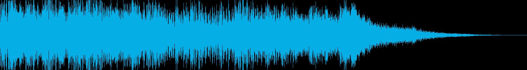 ダークな感じの琴、ドラムの和風ジングルの再生済みの波形