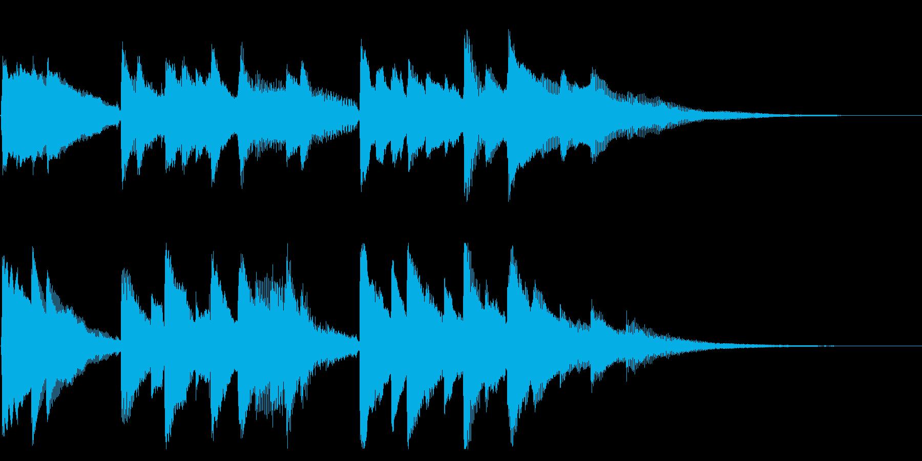 前向きで明るくキャッチーなピアノジングルの再生済みの波形