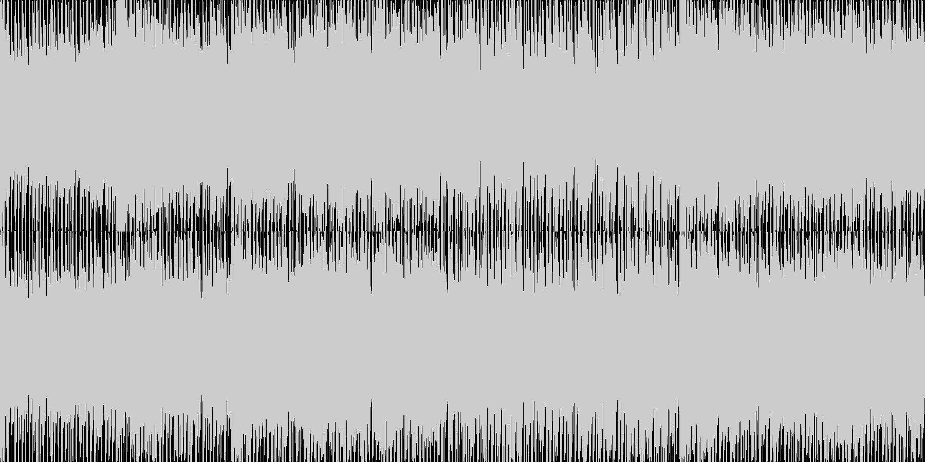 近未来を感じさせるEDMの未再生の波形