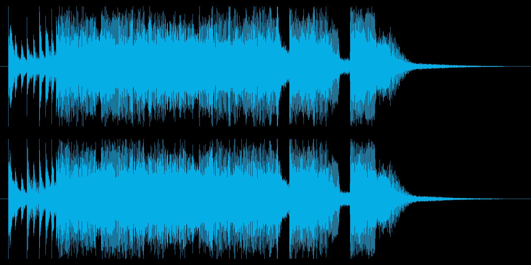 王道な勢いあるかっこいいロックのジングルの再生済みの波形